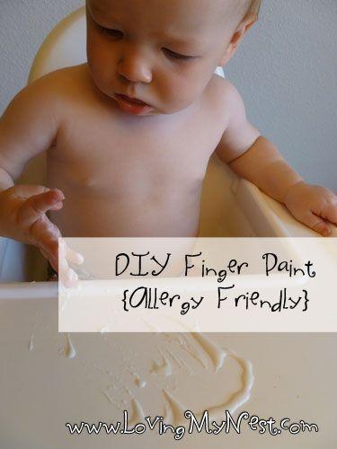 Edible Finger Paints {Allergy Friendly!} - Loving My Nest