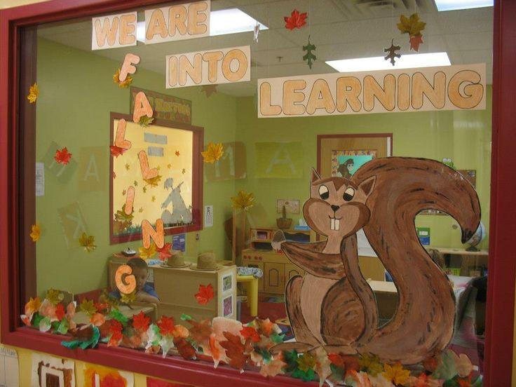 Fall window decoration for preschool projectgabi my - Window decorations for fall ...