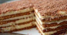 De meest simpele taart die er bestaat: petit beurre taart recept van Sofie Dumont, geïnspireerd op het boterroomkoek recept uit Ons Kookboek...