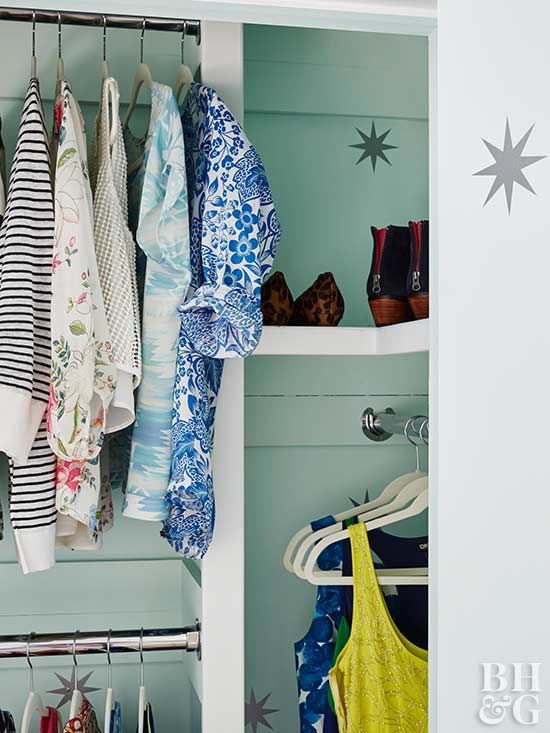 Hangers are clunky and can occupy valuable closet space, so don't hold on to more than you need.
