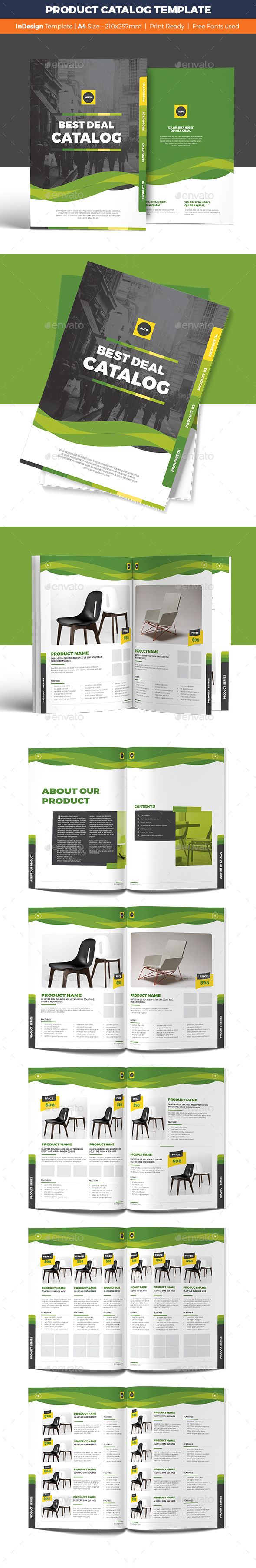 Product Catalog Template InDesign INDD. Download here: http://graphicriver.net/item/product-catalog-template/16724891?ref=ksioks