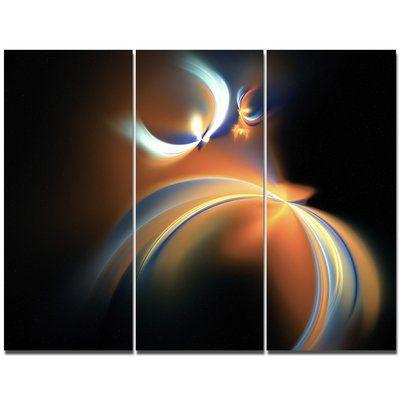 DesignArt 'Brown Floating Fractal Designs' Graphic Art Print Multi-Piece Image on Canvas