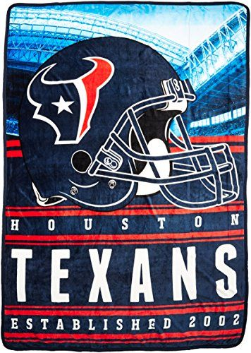 The Northwest Company NFL Houston Texans Stacked Silk Touch Blanket, 60-Inch by 80-Inch