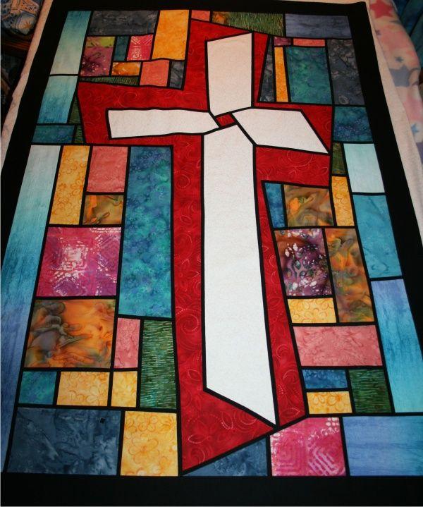 quilt banner cross by nancy riddick