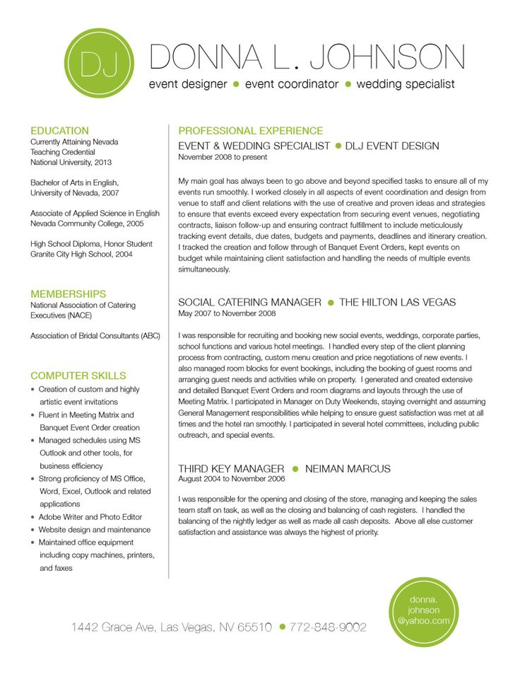 86 Best Resume Images On Pinterest | Resume Ideas, Resume Cv And
