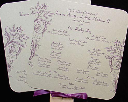 wedding program fans - Google Search