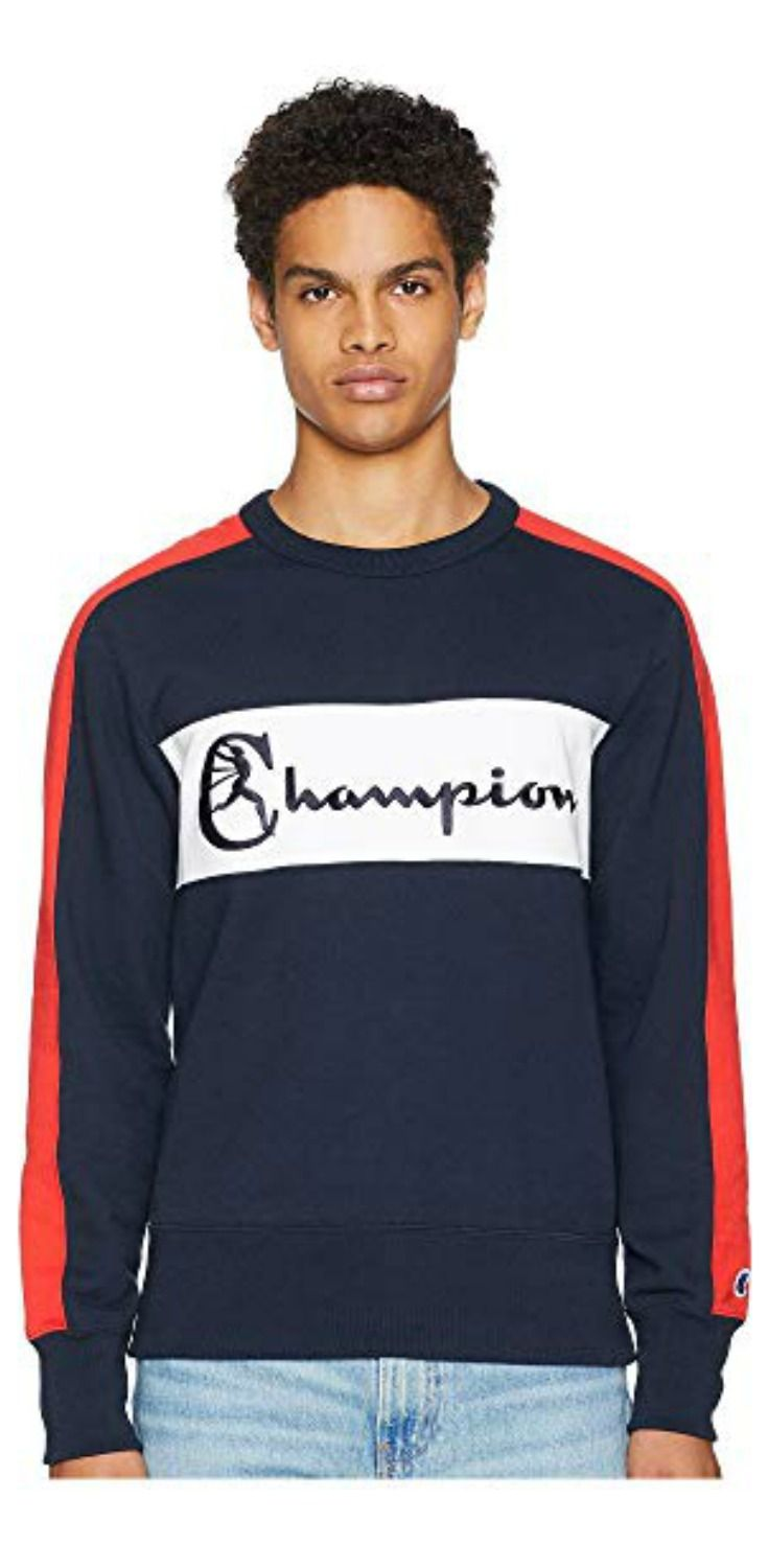 For Chaps That Are Champs Play To Win In The Stylish Strategy Of The Champion Toddsnyder Color Bloc Long Sleeve Tshirt Men Sweatshirts Mens Sweatshirts [ 1500 x 736 Pixel ]