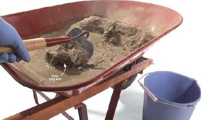 concrete mixing ratios and basic information for DIY projects
