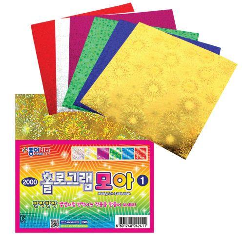 Hologram Colored paper, Sparkling Shiny Colorful, 6colors, 3packs of 36sheets  #Jongienara