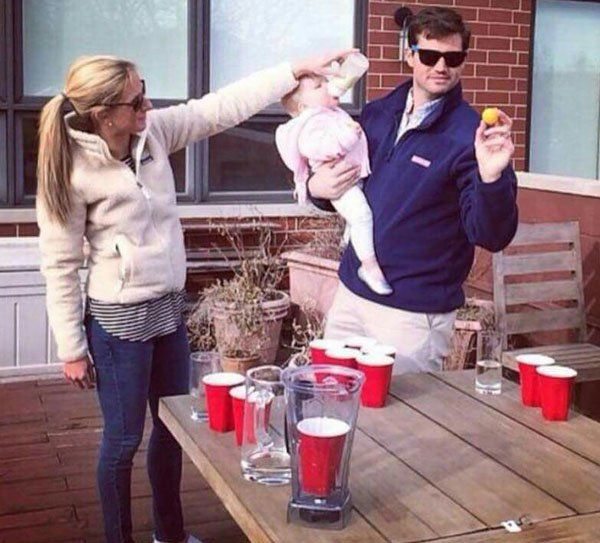 "Future ""Beer Pong"" world Champion, gotta start em early :)"