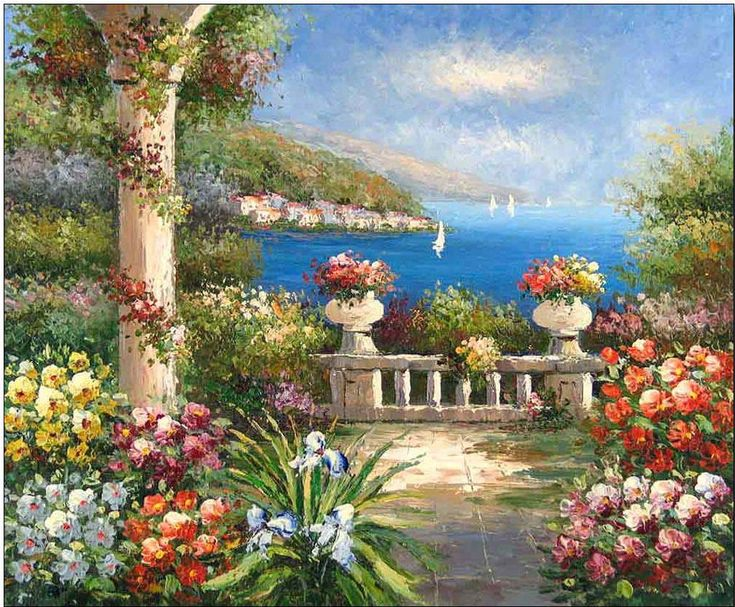 17 best images about mediterranean sea oil paintings on pinterest colors places and paint - Flowers native to greece a sea of color ...