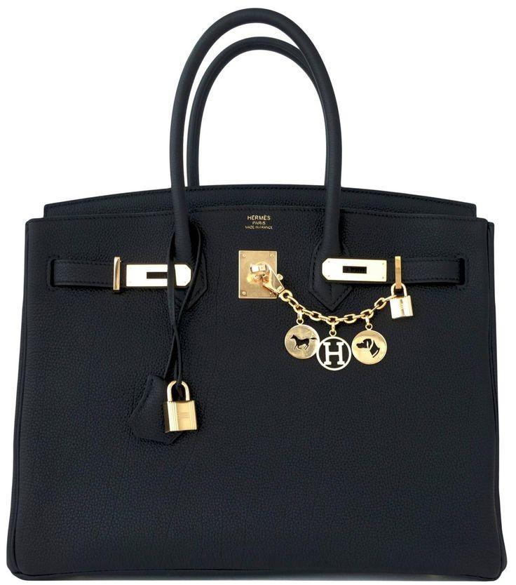 Hermes Birkin Bag 35cm Black Togo Gold Hardware Image 3
