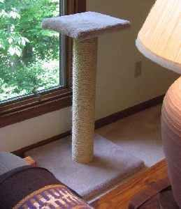 How To Make a Sisal Rope Cat Scratching Post from howtodothings.com