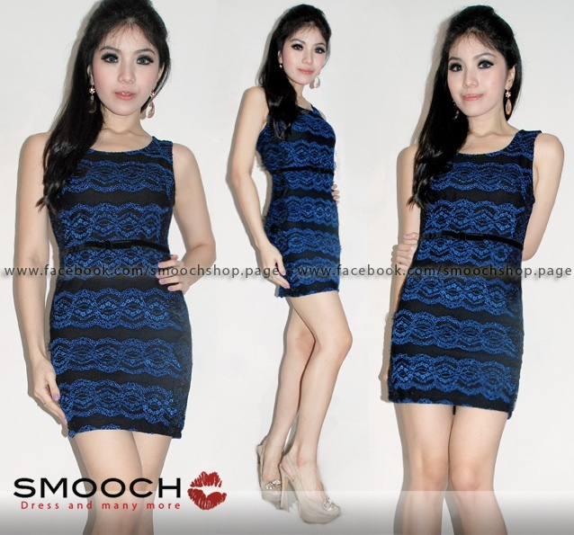 Keisya Dress Blue For more info please kindly visit and likes our Facebook Page : www.facebook.com/Smoochshop.page 
