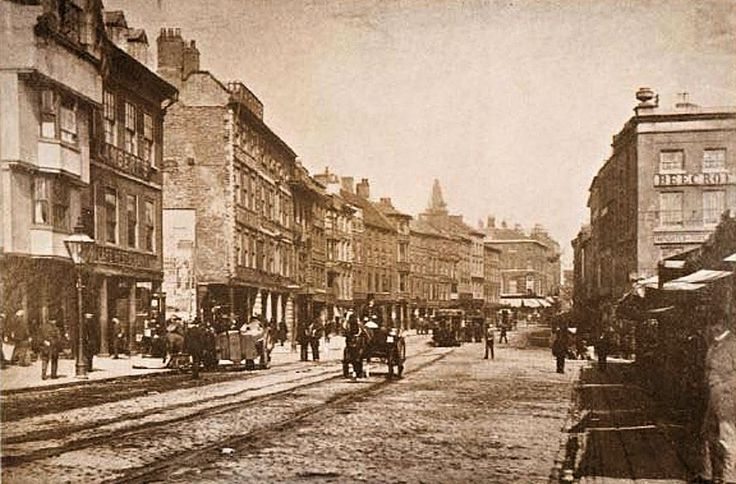Long Row East, Nottingham, 1894.  - my first job was down here!