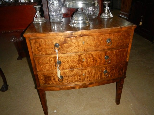 """Renaissance Antiques, Furnture & Home Decor - Administration - Product <small><small>[ Edit ]</small></small> <span style=""""color: #666666; font-size: large;""""><a href=""""http://www.renaissanceantiques.co.za/index.php?option=com_virtuemart&view=productdetails&virtuemart_product_id=1053"""" target=""""_blank"""" >Maple 3 Draw Bow Front (che003)<span class=""""vm2-modallink""""></span></a></span>"""