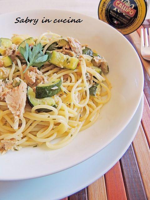 Spaghetti tonno e zucchine - Sabry in cucina