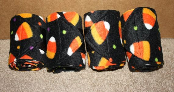 Halloween Candy Corn Polo Wraps (set of four)