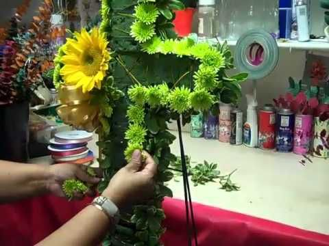 How to make a Funeral sympathy cross- Nisha's design - YouTube