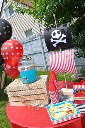 Pirate Birthday Boy Birthday Party Ideas | Photo 11 of 21 | Catch My Party
