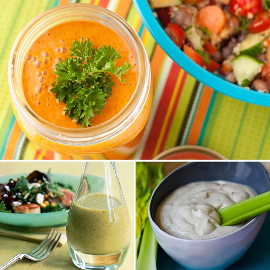 I noticed most of the store-bought dressings use that soybean oil crap so I want to make my own! -Homemade Dressings For Healthier Salads