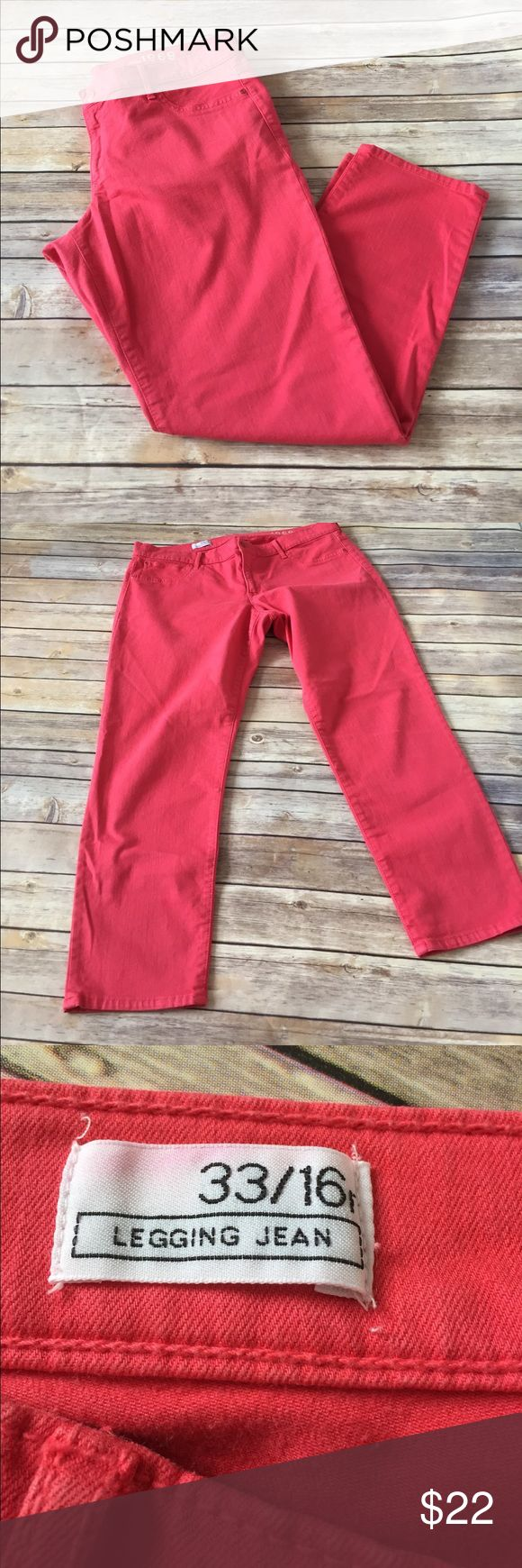 "Gap legging jeans Gap legging jeans. Inseam 26"". Like a salmon color. GAP Jeans Skinny"