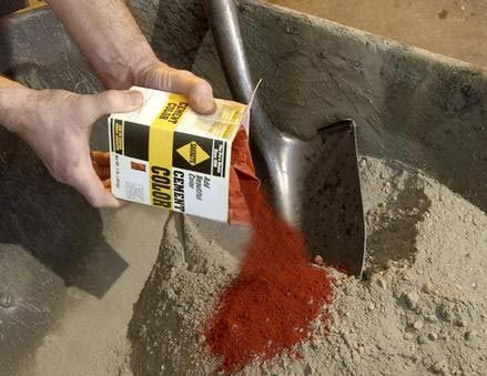 Cement Colors - Sakrete - add a colorful accent to concrete and mortar projects.