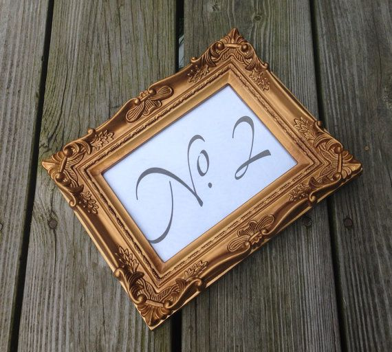 christmas in july 12 baroque table number gold picture frames 5x7 ornate shabby chic vintage wedding
