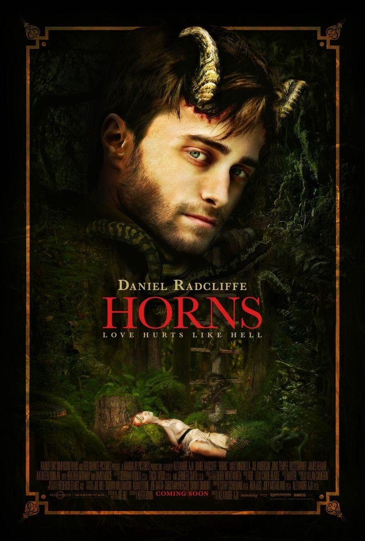 New Romantic Themed 'Horns' Movie Poster - Hell Horror