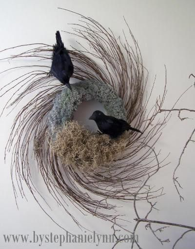 DIY Home Decor DIY Fall Crafts : DIY Crow's Nest  Wreath
