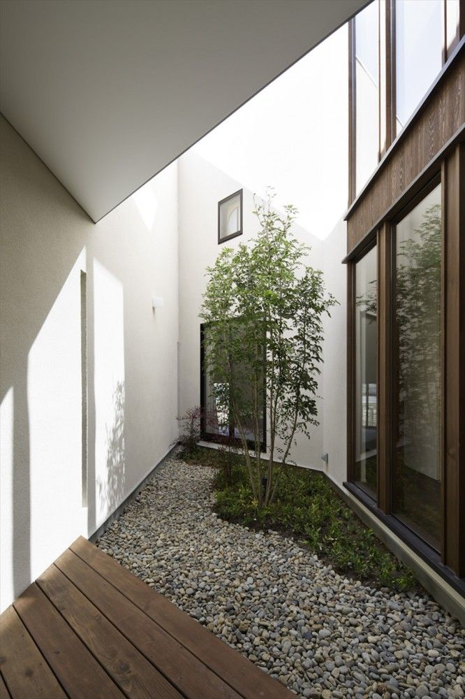 enclosed coutyard / 45º / TSC Architects