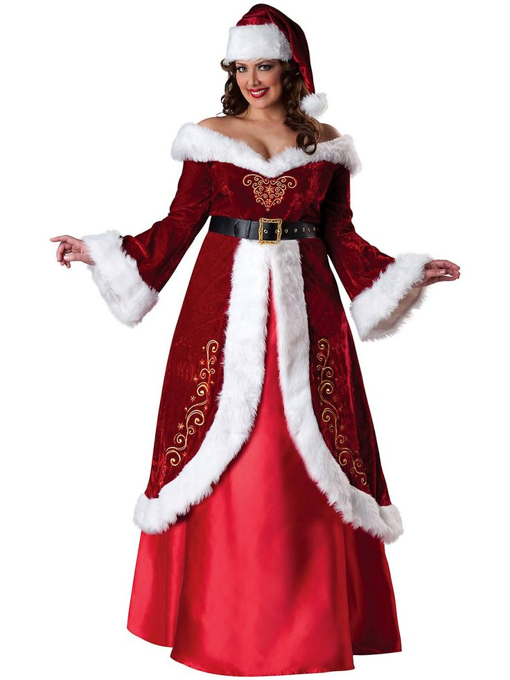 Mrs. St. Nick Plus Size Costume | Cheap Plus Size Christmas Costumes for Adults