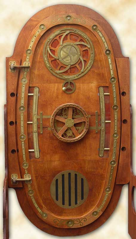 Steampunk door... gotta love the Steampunk movement. Their creativity is unbounded.