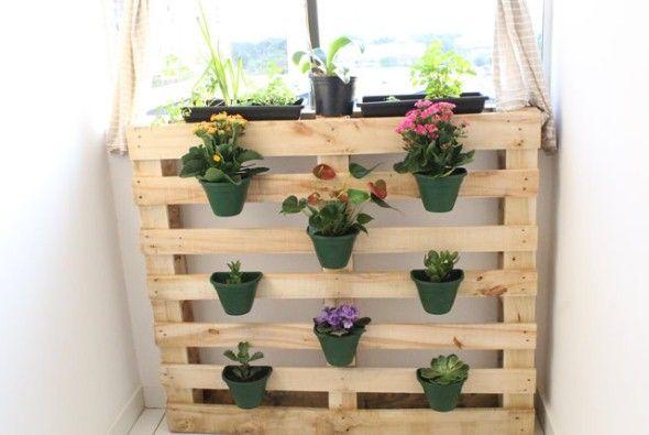 Adesivo Para Box De Banheiro ~ Jardim vertical artesanal 005 Pallet arte em madeira Pinterest Gardens, Minis and Pallets