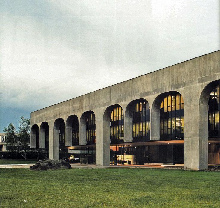 FATA headquarters | 1975 | Turin, Italy | Oscar Niemeyer  http://subtilitas.tumblr.com/tagged/oscar-niemeyer