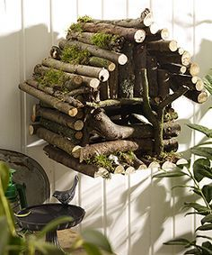 Birdhouse made from branches Follow us on Facebook here: http://www.facebook.com/diyncrafts