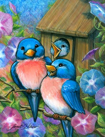 Bluebird Welcome ~ by Janet Stever
