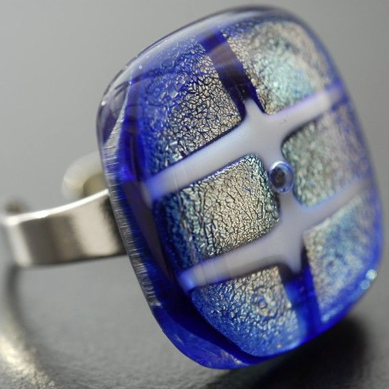 Lovely fused glass ring