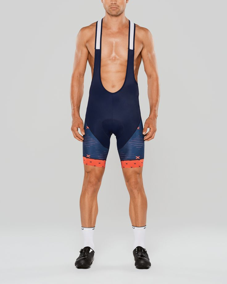 Bib knicks designed by Bzak Cycling as part of the 'X' kit design for 2XU USA