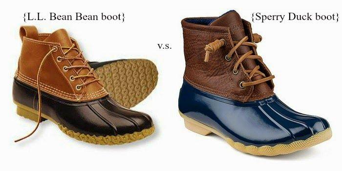 <ll bean bean boot vs. sperry duck boot> Wearing-Pearls.com
