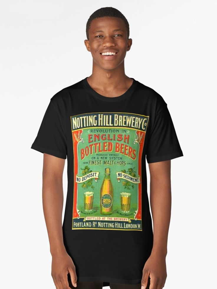A classic beer bottle advertisement from England in the 1800s. One of a kind Graphic Tee design for your fashion enjoyment. Get yours today. • Also buy this artwork on apparel, stickers, phone cases, and more.