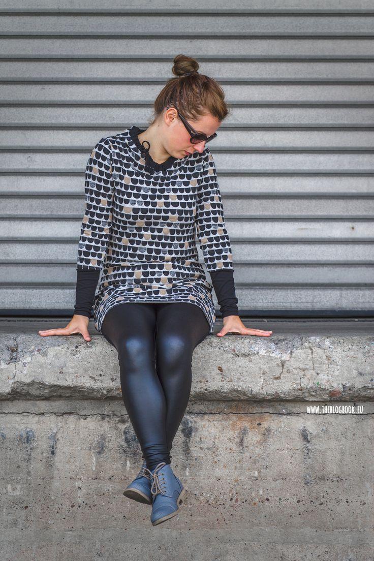 theblogbook | sewing | long hooded shirt, lillestoff, enemenemeins, mialuna