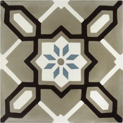 Marrakech vloertegel bloemdecor blauw-grijs 20 x 20 x 1,5cm | Praxis