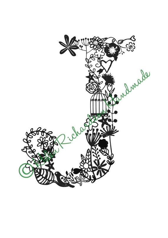 Hey, I found this really awesome Etsy listing at https://www.etsy.com/listing/206098532/floral-alphabet-letter-j-paper-cutting