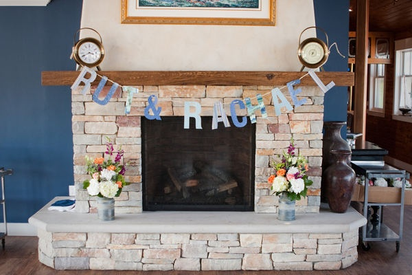 names over one of the fireplaces