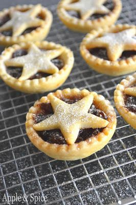 Gluten free mince pies with orange zest pastry