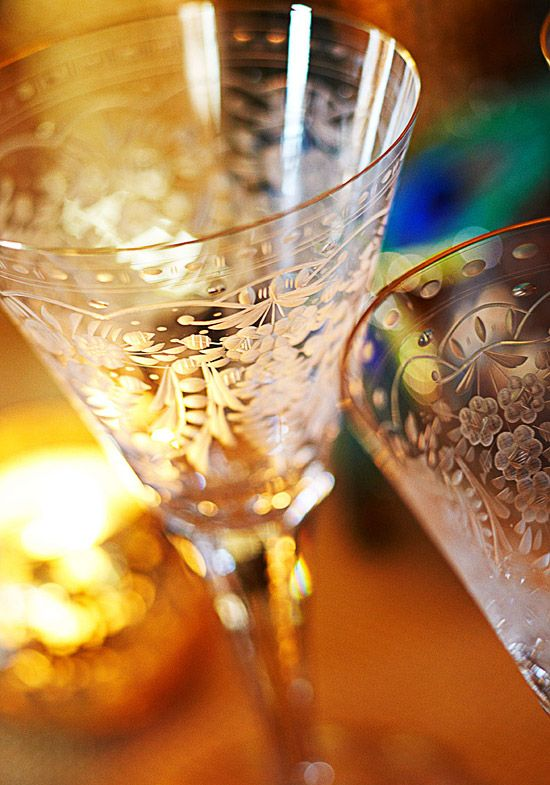 "~ Living a Beautiful Life ~ ""Maharani"" Stemware Collection -- from Moser"
