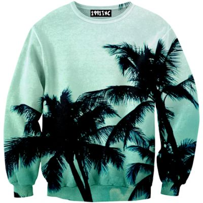 ☮♡ Palm Trees Sweater ✞☆ by 1991 inc.