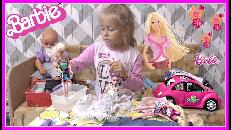 Видео с куклами Барби, МИЛАНА ИГРАЕТ Куклы Пупсики в дочки матери игрушк...