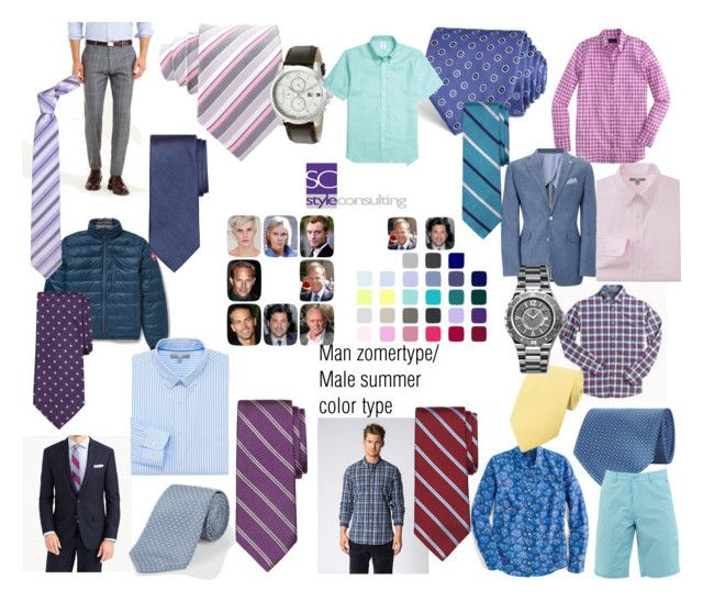 """""""Zomertype man/ Summer color type men."""" by roorda on Polyvore featuring mode, J.Crew, John Lewis, Canada Goose, Brooks Brothers, BOSS Hugo Boss, Paul Smith, Uniqlo, Forzieri en Stefano Ricci"""